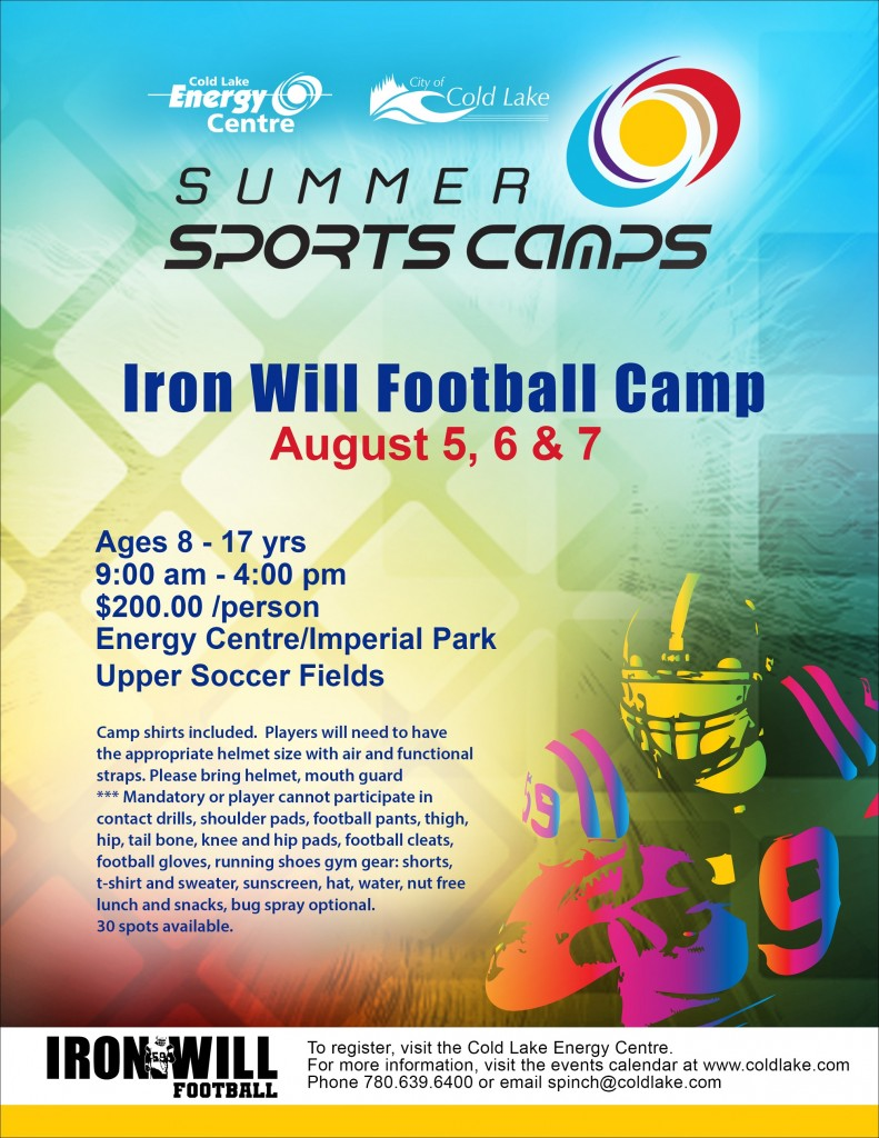 IRONWILL FOOTBALL Performance Camp Cold Lake 2016